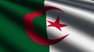 Algeria flag close up Stock Footage