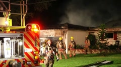 Fatal House Fire CFR#4 Stock Footage