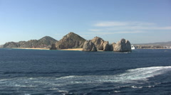 Cabo San Lucas lands end  Stock Footage
