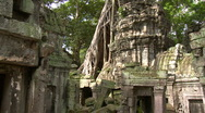 Stock Video Footage of Ancient Temple in Angkor Wat Arean