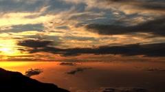 Sunset Time lapse view Haleakala Crater, Maui, Hawaii Stock Footage