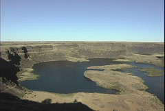 Dry Falls Washtingon pan right Stock Footage