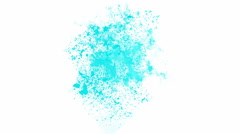 Splash blue ink mirage dust particle dream vision. Stock Footage