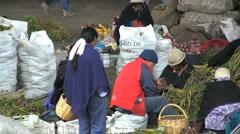 Ecuador market vegetables Stock Footage