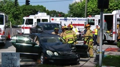 Seminole extrication #3 Stock Footage