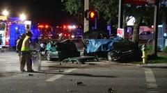 Fatal Crash Killing Family Of 4 SPFR#9 Stock Footage
