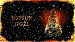 Christmas Card with Xmas Tree - Christmas 31 (HD) - French Stock Footage