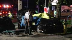 Fatal Crash Killing Family Of 4 SPFR#7 - stock footage