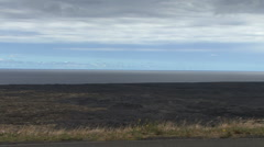 Edge of sea at Kilauea lava flow Stock Footage