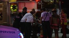 Gunshot Victim CPR In Porgress CFR#1 - stock footage