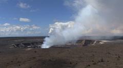 Kilauea Caldera smoke eruption Stock Footage