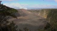 Hawaii Kilauea Iki in sunshine Stock Footage