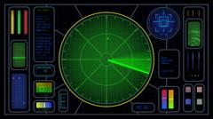 Radar_MiddleBlip(HD) - stock footage