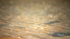 Water reflections focus Stock Footage