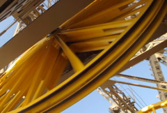 EiffelTower Elevator  Mechanism Wheel Stock Footage
