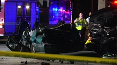 Fatal Crash Killing Family Of 4 SPFR#2 - stock footage