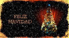 Christmas Card with Xmas Tree - Christmas 31 (HD) - Spanish Stock Footage