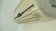 Air conditioning unit opens and closes 2 Stock Footage