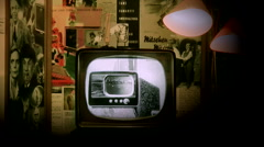 Old television - stock footage