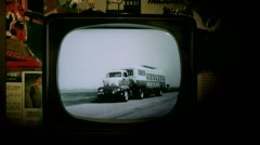 Old television Stock Footage