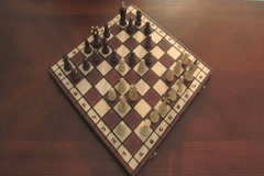 World's longest chess game Stock Footage