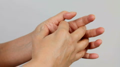 Hand Pain Stock Footage