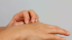 Fingernails Scratch Hand Stock Footage