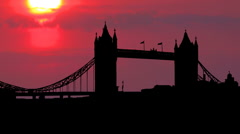 London tower bridge 02 - stock footage