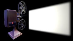 Film projector show move on screen - stock footage