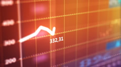 Stock exchange graph. Stock Footage