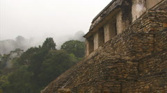Palenque ruin closer 1 Stock Footage