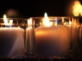 Candles in the dark Stock Footage