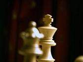 CheckMate figure Queen & King Rack focus Stock Footage