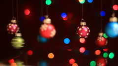 Christmas Ornaments2 Stock Footage