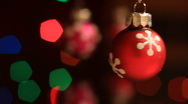 Stock Video Footage of Christmas Ornaments1