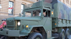 Army Truck Stock Footage