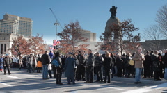 Remembrance Day Crowds Stock Footage