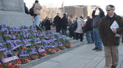 Remembrance Day Wreaths Stock Footage