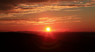 Stock Video Footage of Sunset Over Acadia National Park