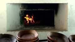 Old traditional brick oven 2 Stock Footage