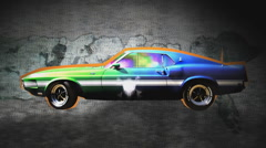 American cars 1 - stock footage