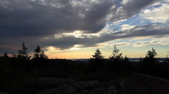 Sunset Over Acadia National Park Stock Footage