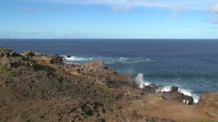 Blowhole Maui,Hawaii Stock Footage