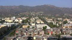 Burbank view with birds CA Stock Footage