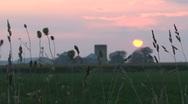 Sunset farm Stock Footage