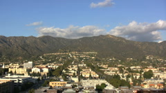 CA View of Burbank and mountains Stock Footage