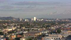 CA Zooms toward Pasadena Stock Footage