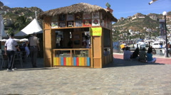 Stock Video Footage of Cabo San Lucas-food stand