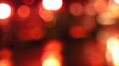 HD Out of Focus Car Stop Lights in Traffic Jam - stock footage