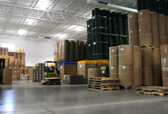 Stock Video Footage of Warehouse Forklift 3